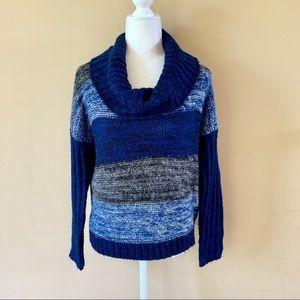 a.n.a medium blue turtleneck sweater